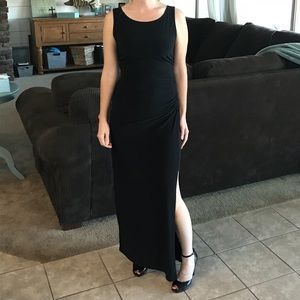 Dresses & Skirts - Black dress with slit on left side